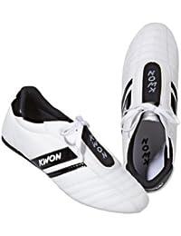 Kwon Dynamic - Zapatillas de entrenamiento para artes marciales, color negro y blanco