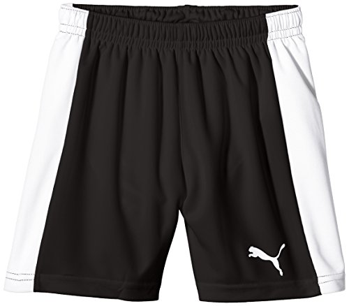 PUMA Kinder Hose Pitch Shorts with Innerbrief, black-white, 116, 702075 03 (Mesh-mädchen-shorts)