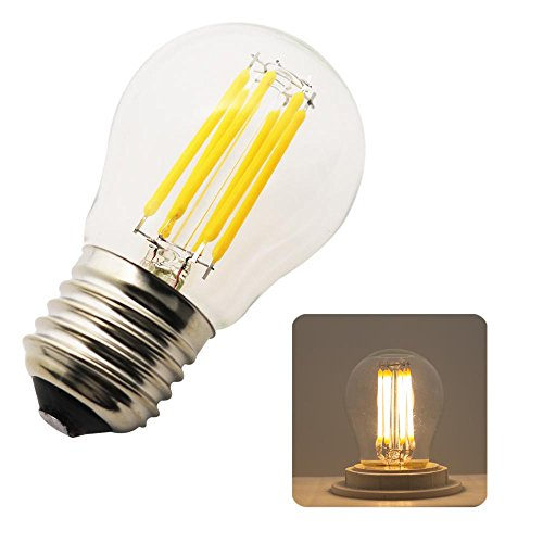 1 Stück G45 E27 Mini Globe LED Glühbirne Warm Weiß 2700K, 6W = 50W, Nicht dimmbar, 360 Grad Strahlungswinkel, LED Edison Schraube Glühbirne, Energiesparlampen,