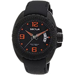Sector Men's Quartz Watch with Black Dial Analogue Display and Black Leather Strap R3251573002
