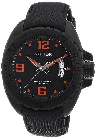 Sector Herren-Armbanduhr XL 600 Analog Quarz Nylon R3251573002