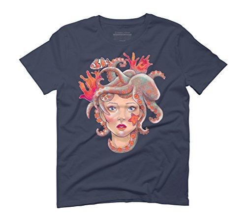 Wildlife Men's Graphic T-Shirt - Design By Humans Navy
