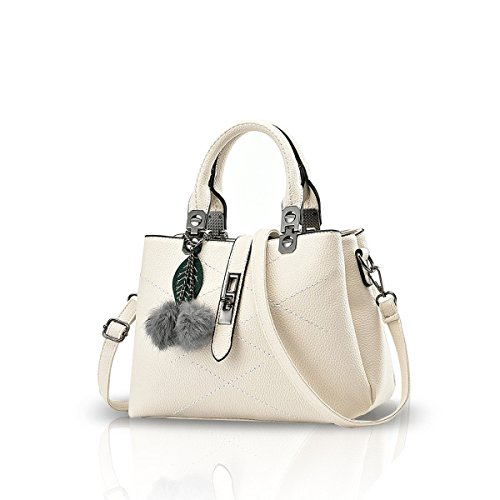Nicole&Doris 2017 new wave packet Messenger bag ladies handbag female bag handbags for women(White)