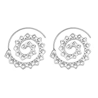 SSEHXL earring 2 color geometric whirlpool earrings punk style jewelry ladies party national jewelry accessories