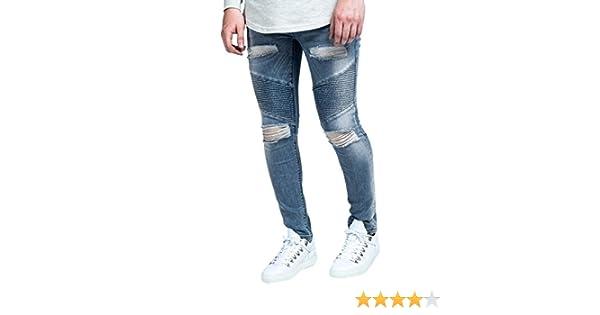 Sik Silk Herren Skinny Jeans Gr. XL 44W, Stonewash Blue  Amazon.de   Bekleidung 04b85a2935