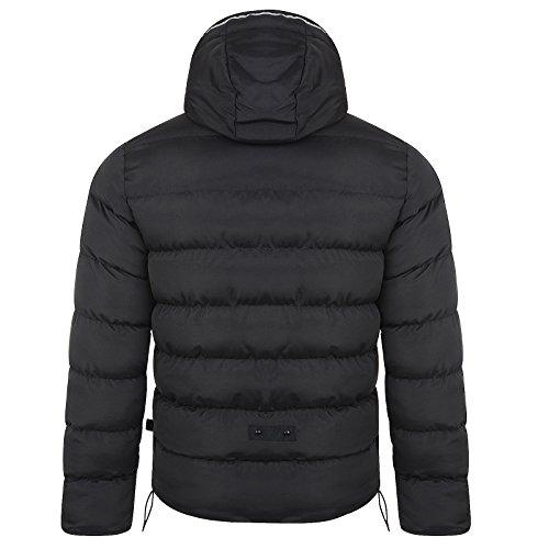 Gilet Hommes Bellfield Neuf Capuche Décontracté Mode Doudoune Sans Manche Chaud Hiver Manteau Noir