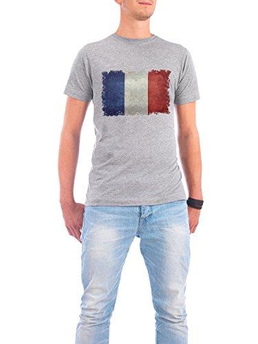 """Design T-Shirt Männer Continental Cotton """"Flag of France"""" - stylisches Shirt Reise Sport / Fußball von Bruce Stanfield Grau"""