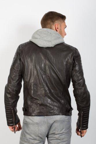 Top veste en cuir synthétique moderne-moka vintage veste en cuir style ancien modèle du lifestylelabel gipsy. Marron - Moka