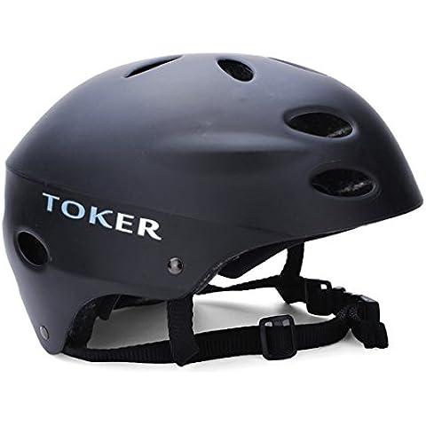 Toker esquí patinaje Skateboarding seguridad cascos bicicleta cascos - mate negro -S