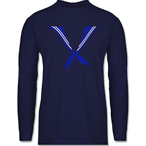 Shirtracer Karneval & Fasching - Matrose Kostüm Tuch - Herren Langarmshirt Navy Blau