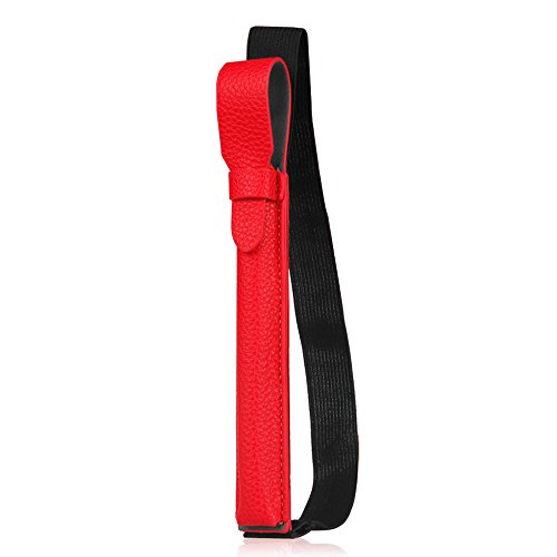 Fintie Apple Pencil Halter - Premium Kunstleder Hülle mit USB-Adapter-Tasche, kompatibel mit iPad Pro 9,7, iPad Pro 10.5 & iPad Pro 12.9 Schutzhüllen, Rot