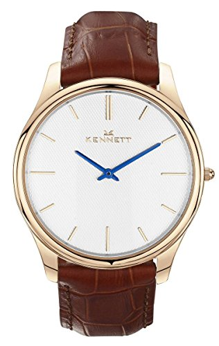 Mens Kennett Kensington Rose Gold White Light Brown Watch KRGWHLGTBRN