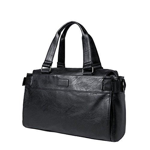 Yy.fPU Casual Herren Tasche Umhängetasche Messenger Bag Handtasche Reisetasche Herren-Tasche Trendtasche Geschäftsreise Computer-Tasche Arbeiten,Black-41*11*32cm