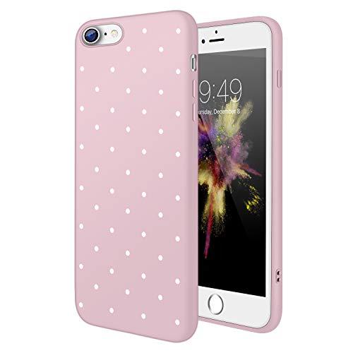 Coque iPhone 7, Coque iPhone 8, Les Filles De Cas Ultra-Mince avec Simple élégante Motif Mat Couverture TPU Silicone, pour iPhone 7/8 (4.7 Pouces) - Rose