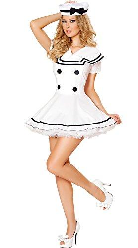 MOONIGHT Damen Sexy Marine-Kostüm - Erwachsene / Frauen (Frauen Marine Kostüm)