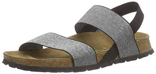 BirkenstockCaterina - Sandali Donna , (Black/Silver Stretch), 35