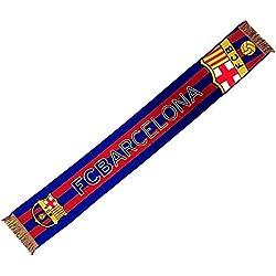 Bufanda F.C. Barcelona gran escudo telar [AB2206]