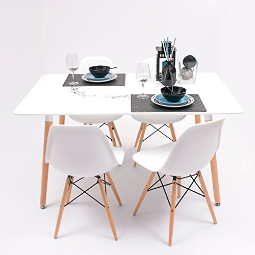 Conjunto de comedor TOWER con mesa lacada