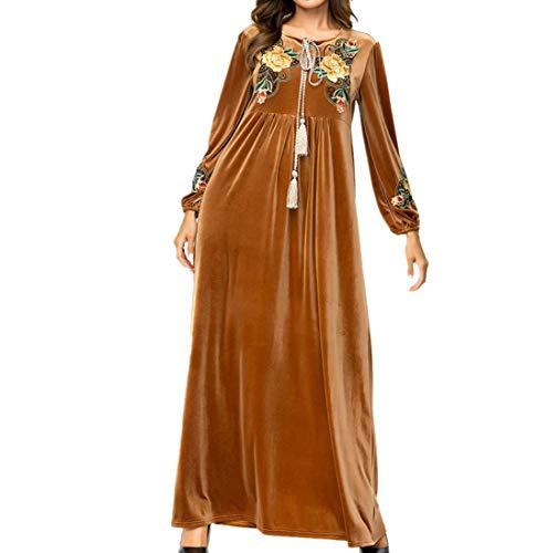 9eb063e1b1ac zhxinashu Gonna Lunga Inverno Vestiti Musulmani - Abiti Femminili Abaya Islamico  Donna Caldo Arabo Costume XL
