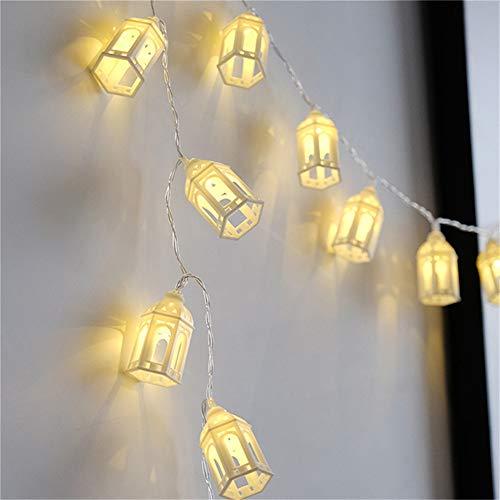 Retro Haus Batterie String Diy Garland Garland Lichterketten Weihnachtsdekoration Familienurlaub Garten Hochzeit Schnur Lichter