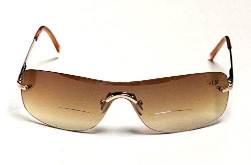 argus Bifokale Sonnenbrille, Sonnenbrille mit Leseteil +1,5 +2,0 +2,5 dpt (+2,5 dpt)