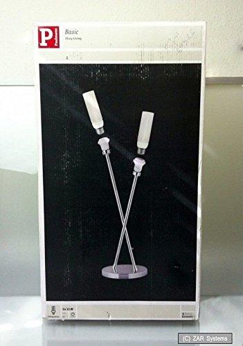 Preisvergleich Produktbild Paulmann Tischleuchte 2-flammig Basic Lampe aus Chrom,  E27,  2 x 11W,  230 Volt