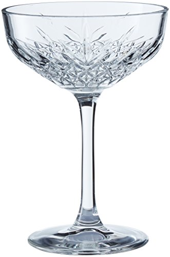 Pasabahce Set 4 Coppe Timeless Champagne 27 Arredo Tavola 255 milliliters Vetro Trasparente