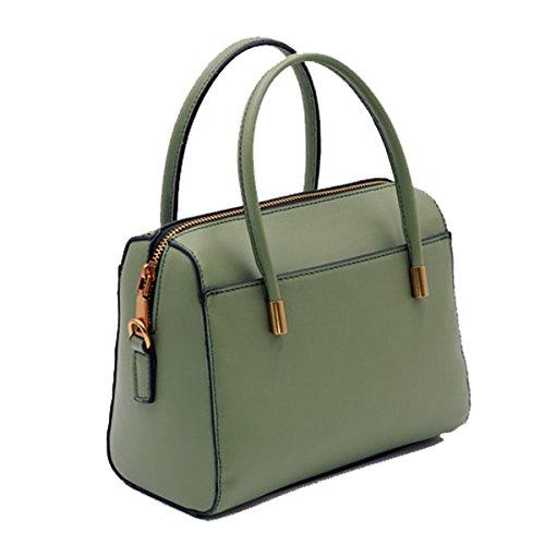 Frauen Handtaschen Mode Umhängetasche Einfach Leder Schultertasche Multicolor Green