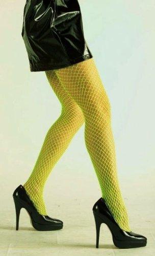 Neon-Netzstrumpfhose, grün - Neon-grün Netzstrumpfhose