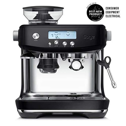 Sage Appliances SES878 Espressomaschine, 1.65, Edelstahl, Mattschwarz