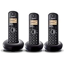 Panasonic KX-TGB213SPB - Teléfono Inalámbrico Digital (DECT Dúo, identificación de llamada entrante) color negro