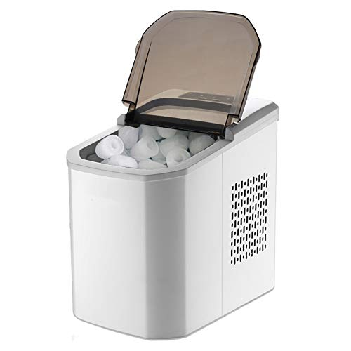 Die Tragbare Eismaschine, Eine Kompakte Automatische BewäSserungstisch-Eismaschine, Kann 15 Kg EIS Pro Tag Produzieren Und Ist FüR Den Privaten Und Gewerblichen Gebrauch Geeignet - Rundes EIS