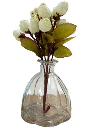 outflower Mini jarrón de cristal transparente de color decoración de