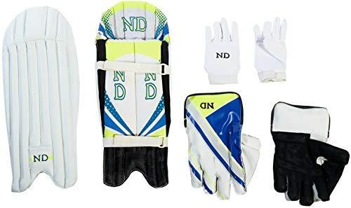 ND 2019 Cricket Wicket-Keeper Torwart Handschuhe Polster Inners- Herren Jugend Boy UK - Mehrfarbig, Mens