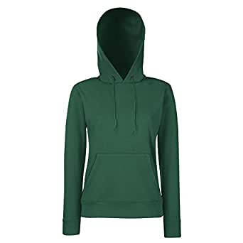 Fruit of the Loom - Classic Lady-Fit Kapuzenpullover 'Hooded Sweat' XS,Bottle Green