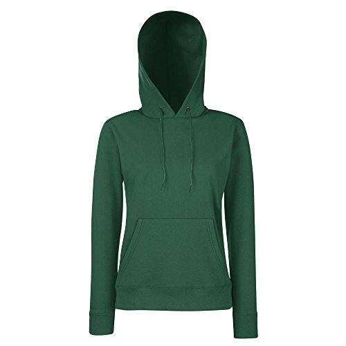 Fruit of the Loom - Classic Lady-Fit Kapuzenpullover 'Hooded Sweat' M,Bottle Green
