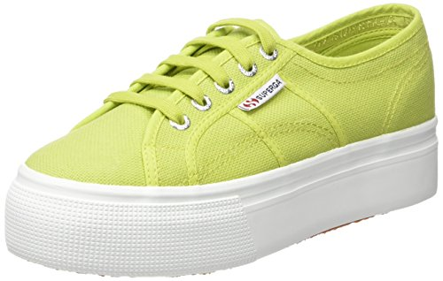 Wedge Green Sneakers (Superga 2790 Linea UPDown Flatform Unisex-Erwachsene Sneaker,Grün (Apple Green),40 EU)