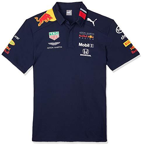 Official Formula One Merchandise | Männer | Offizielle Aston Martin Red Bull Racing 2019 F1TM | Team Poloshirt | Marineblau | Polyester | Größe: XL -