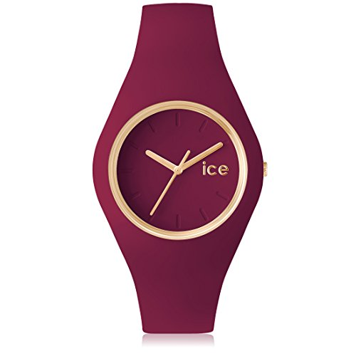 Ice-Watch - ICE glam forest Anemone - Rote Damenuhr mit Silikonarmband - 001060 (Medium)