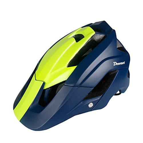 xMxDESiZ Universal Ultralight Integrally Molded Road Mountain Bike Bicycle Cycling Helmet Yellow Blue