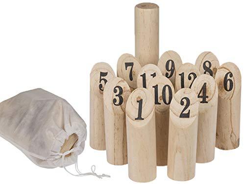 Bada Bing 14 TLG. Holz Wurfspiel Aus Naturholz Geschicklichkeitsspiel Draußen Spiel Für Jung Und Alt 77