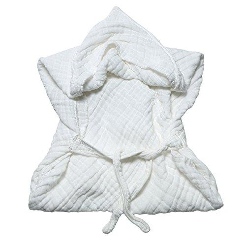 Lucear Asciugamano con Cappuccio Bagno Neonato Accappatoio Cotone Mussolina Bambino