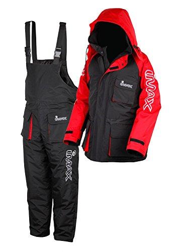 Imax Thermo Anzug Sea Fishing Clothing (2teilig), Mehrfarbig (schwarz/rot), Gr. XL (Schnee Anzug Overall)