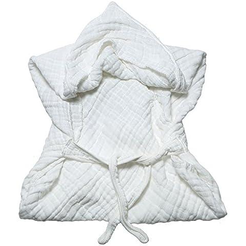 Lucear de muselina para de cama de algodón de color blanco de toalla de baño con mangas para bebé con diseño de pluma de capucha para traje de buzo y con pinzas para de gomaespuma y DE ion de litio para saco de dormir infantil con mangas para bebé
