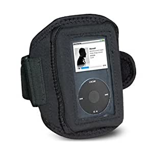 Mofun Black Neoprene Sports Gym/Jogging / Running/Ridding/ Armband Case for the Apple iPod Classic 80GB / 120GB / 160GB + iPod Video 30GB / 60GB / 80GB