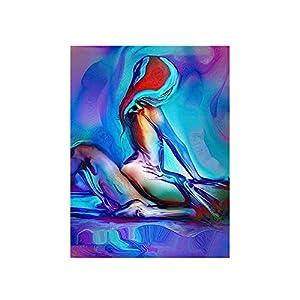 Bunte Charaktere Sexy Männer Und Frauen, Die Sex Schlafzimmer Dekorationen Abstrakte Dekorative Gemälde Leinwand Wandkunst- 50X70Cm Ohne Rahmen