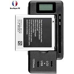 MOVTTEK France Chargeur de Batterie Universel avec ecran LCD Samsung Nokia, HTC, LG Chargeur de Batterie Dock pour Samsung Galaxy S2/S3/S4/S5/J3/J6 etc Note 1 Note 2 Note 3 Note 4 LG G4 G3 Wiko View