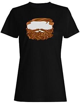 Hombres secretos con la barba y el bigote del jengibre camiseta de las mujeres -m2f