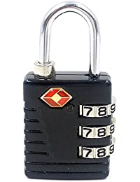 Hanumex TSA Approved 3 Digit Luggage Lock Best For International Travelling Assorted Color & Shape