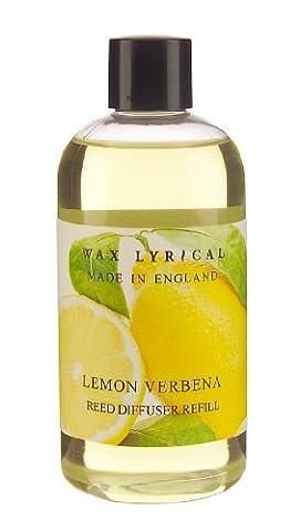 Wax Lyrical Recharge pour diffuseur de parfum, Verveine et citron, 250 ml